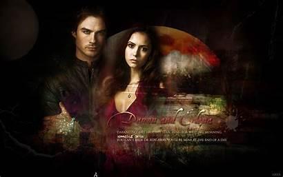 Damon Elena Delena Vampire Diaries Fanpop Background