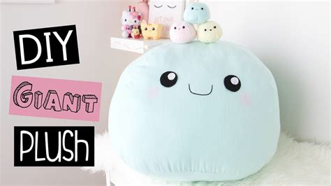 diy giant plush pillow room decor youtube