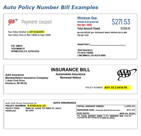 vehicle insurance policy aaa find your auto insurance policy number