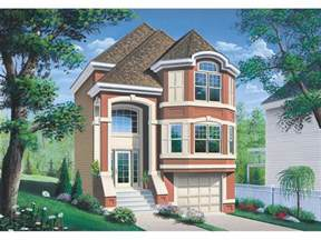 narrow house plans with garage narrow lot house plans garage cottage house plans