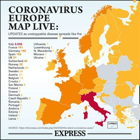 Coronavirus Europe MAP: How many cases have been confirmed ...