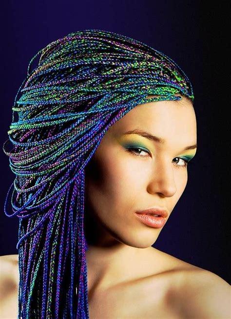 box braids hairstyles cool  funky hairdos  rock