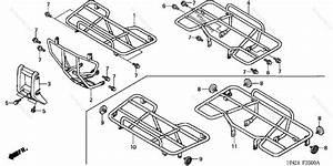 Honda Atv 2001 Oem Parts Diagram For Carrier  Trx500fa U0026 39 01 Fga U0026 39 04