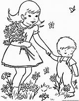 Spring Weather Coloring sketch template