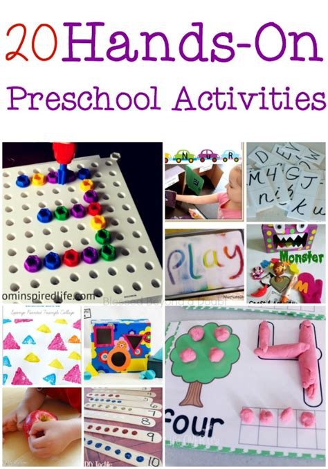 20 on preschool activities for literacy and math to