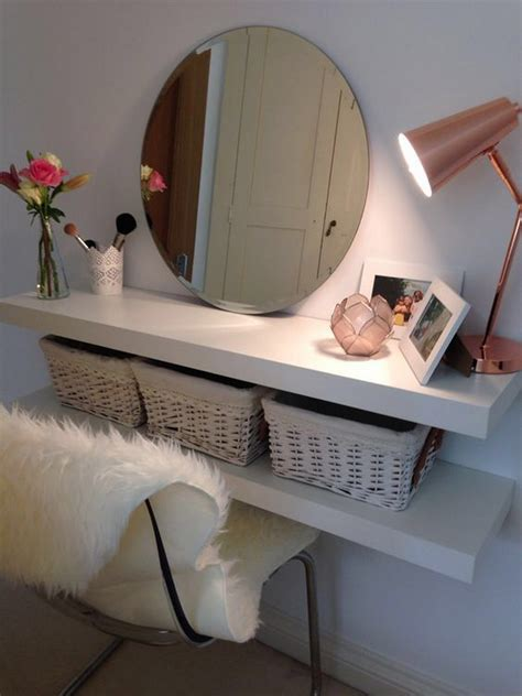 floating makeup vanity wall shelf dressing table