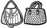 Coloring Bag Ladies sketch template
