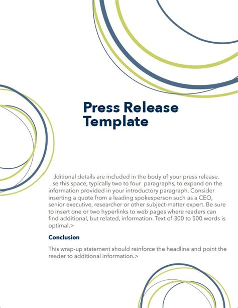 FREE 15+ Press Release Templates in MS Word   PDF   Google ...