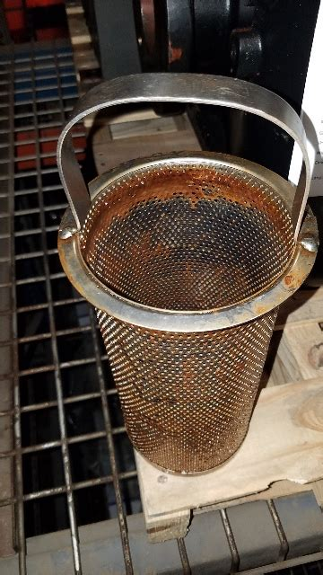 keckley duplex filter basket strainer iron flanged