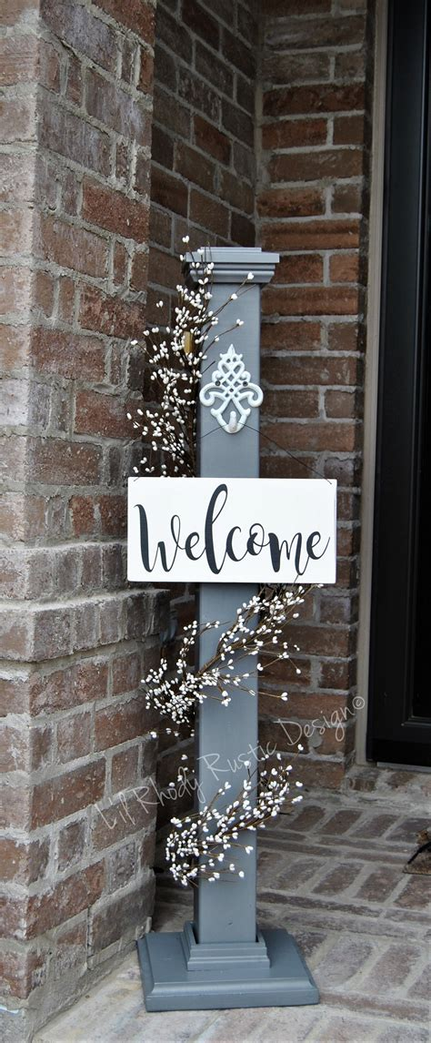 Decorative L Posts - decorative porch post welcome sign hanger