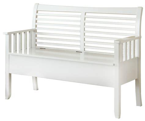 White Wood Storage Bench by 4506 White Solid Wood Storage Bench I 4506 Monarch