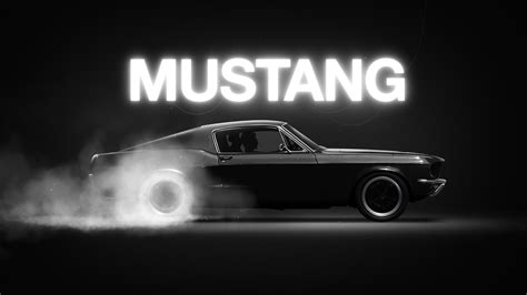 wallpaper mustang muscle car black hd automotive