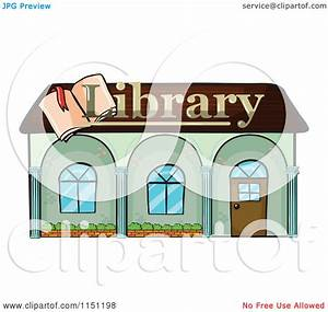 Clipart of a Library Building - Royalty Free Vector ...