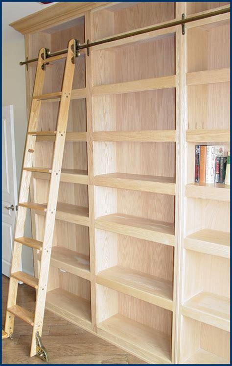 bookshelf with ladder hanson house custom furniture bookcases