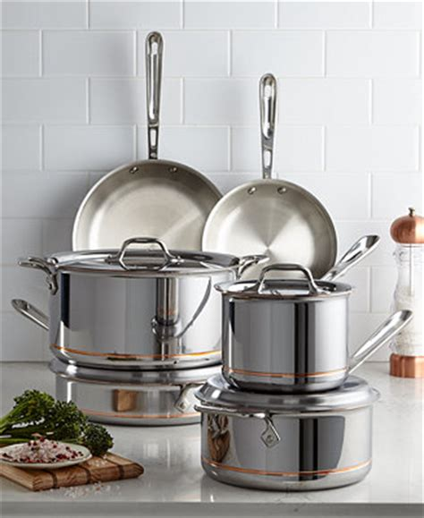 clad copper core  pc cookware set reviews cookware kitchen macys