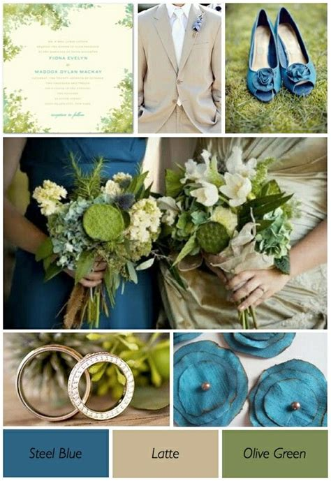 olive green steel blue latte wedding colors olive green weddings wedding colors teal blue