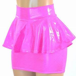 Neon Pink Metallic Holographic Peplum from Coquetry Clothing