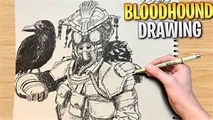 Apex Legends Drawing Timelapse  Bloodhound  Timelapse