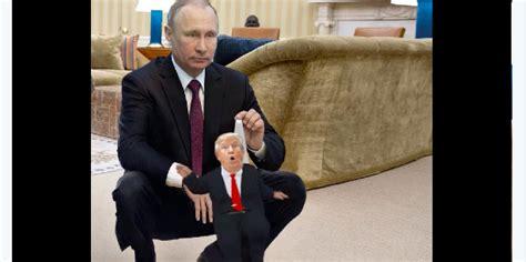 todays  donald trump  putins wedgie puppet