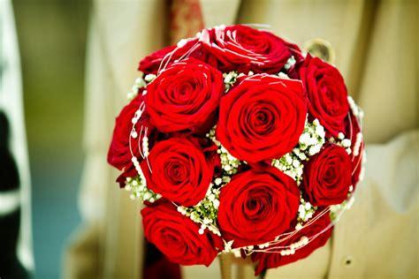 brautstrauss rote rosen