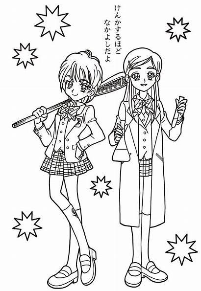 Pretty Cure Coloring Laura Heart Max Da