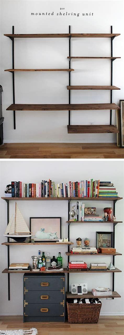 wall mounted shelves ideas  pinterest