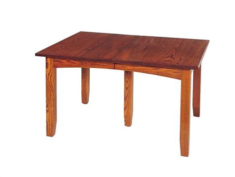 amish dining table with self storing leaves mission self storing dining table by keystone