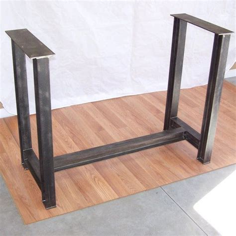 metal legs for a desk industrial steel i beam bar base kitchen island heavy