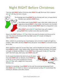 9 best images of printable right left christmas game twas the night before night before