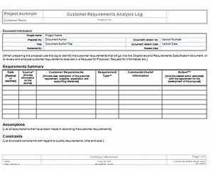 collect requirements templates project management templates With document management system requirements template