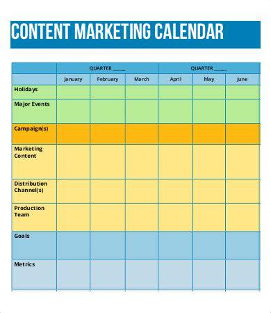 8 Content Calendar Templates Free Sle Exle Format Free Premium Templates