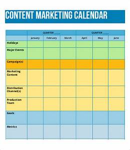 8 content calendar templates free sample example With marketing campaign calendar template