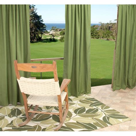 sunbrella outdoor curtain with grommets by hatteras