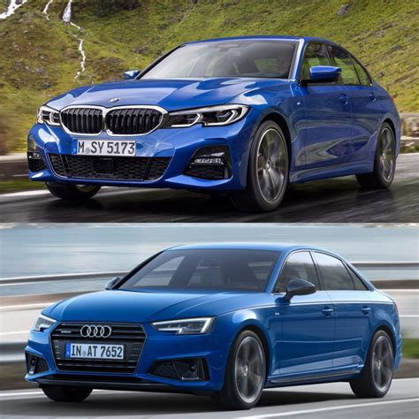 Audi A4 Vs Bmw 3 Series by Photo Comparison G20 Bmw 3 Series Vs Facelifted Audi A4