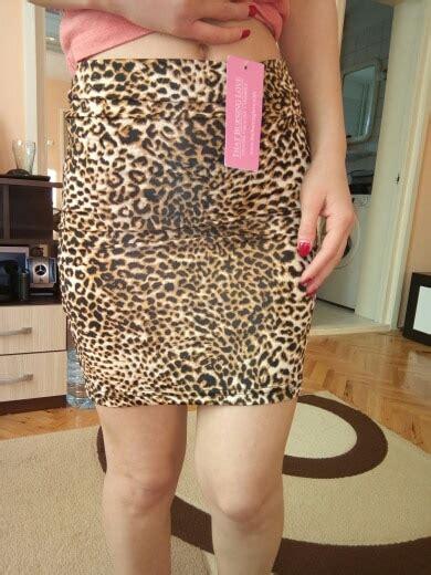 Sexy Leopard Silk Tight Pencil Skirt Sissy Dream