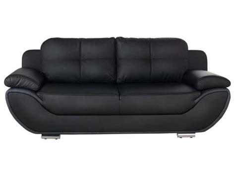 canaper conforama canapé fixe convertible 3 places pacora coloris noir gris