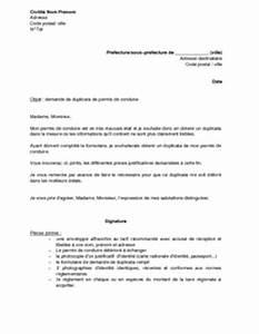 Demande De Duplicata De Permis De Conduire : lettre de demande de duplicata de permis de conduire d t rioration mod le de lettre gratuit ~ Gottalentnigeria.com Avis de Voitures