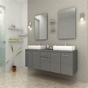 Meuble Salle De Bain Gris : ensemble meuble de salle de bain epura gris ~ Preciouscoupons.com Idées de Décoration