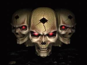 pics of skulls | Evil Skull On Fire | THE GREATEST SKULLS ...