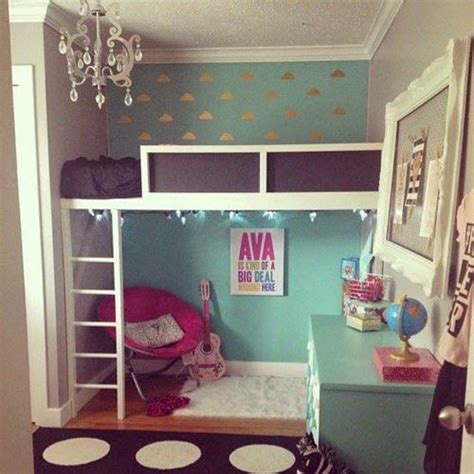 girl loft beds ideas   pinterest loft bed