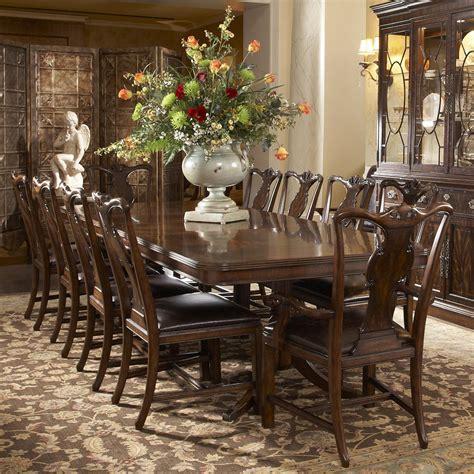 fine furniture hyde park  piece double pedestal dining