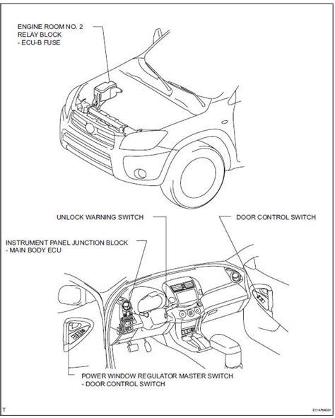 Rav 4 Keyles Entry Wiring Diagram by Instrument Panel Fuse Box Locations Toyota Rav4 2011 52