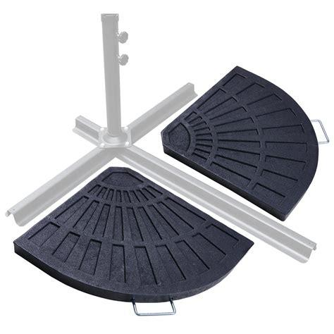 patio outdoor  piece cantilever offset umbrella base