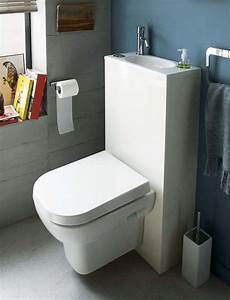 wc toilettes lavantes sans bride lave mains integre With salle de bain design avec lave main leroy merlin