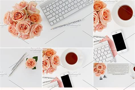 chic peach black photo collection   styled stock