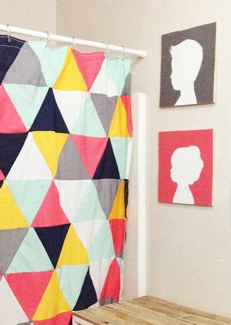shower bathroom ideas diy triangle shower curtain diy crafts
