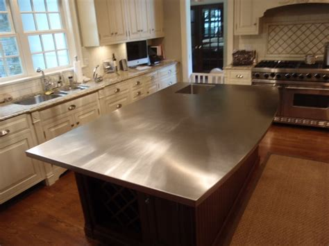 kitchen island countertop your own stainless steel countertop marku home