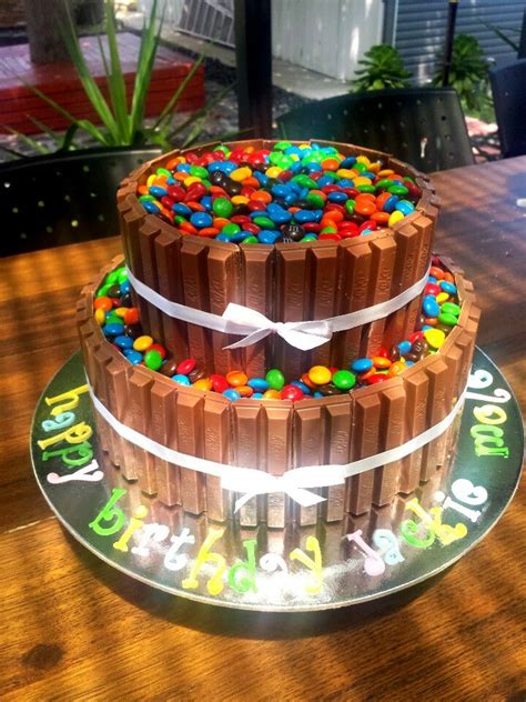 Double Layer Choc Mud Kitkat And M&m Cake  My Cakes 2013