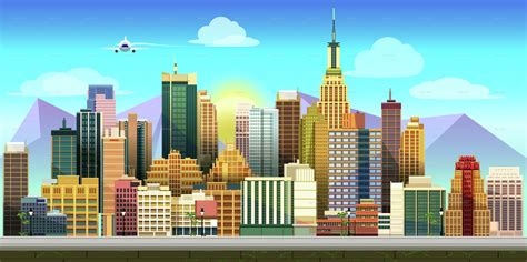 city game background  vitaliyvill graphicriver