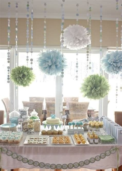 Beautiful Baby Shower by Beautiful Baby Shower Setup For A Dessert Or Snack Table